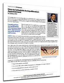 How to Schedule an Equilibration Appointment