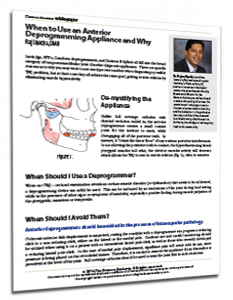 When to Use an Anterior Deprogramming Appliance and Why