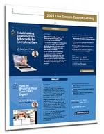 2021 Live Stream Course Catalog Dental CE Dawson Academy